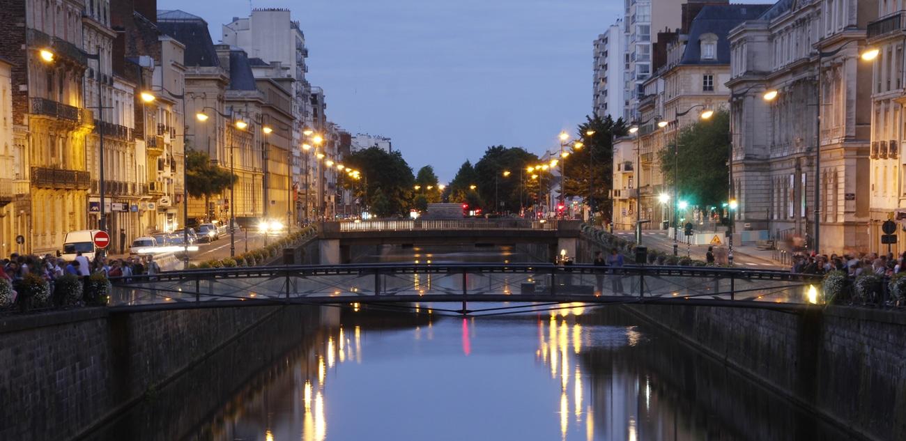 Une belle soitée dans la ville de Rennes